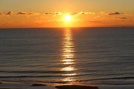 Sunset on the ocean Banco de Imagens