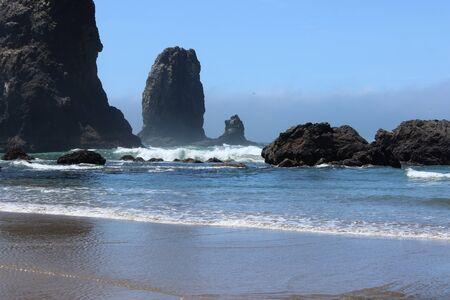 Rocks in the ocean Banco de Imagens