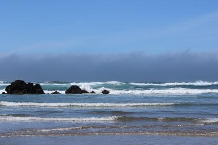 Rocks in the ocean waves
