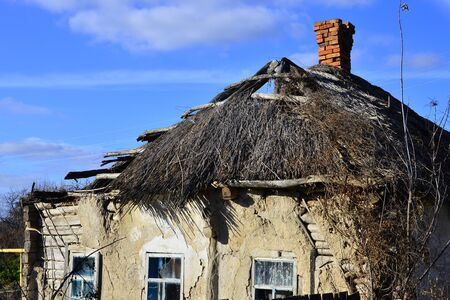 The roof of a village house