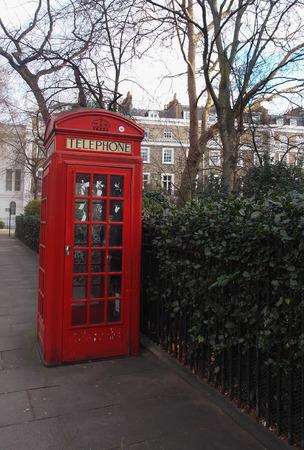 sidewalk talk: Red Phone Booth in London, England
