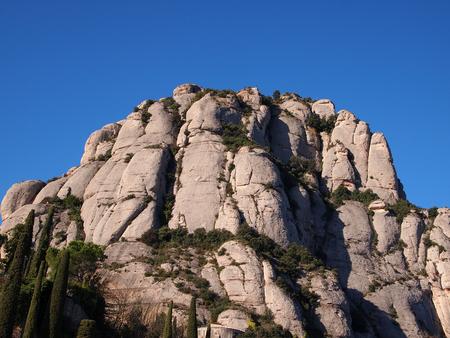 vestal: Montserrat mountain in Catalonia, Spain