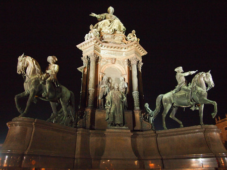 habsburg: Monument of the famous monarch Maria Theresia of Habsburg Editorial
