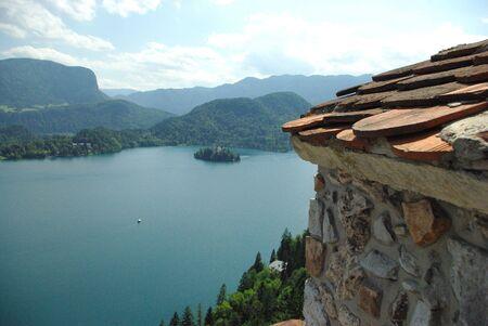 Lake in Bled Slovenia