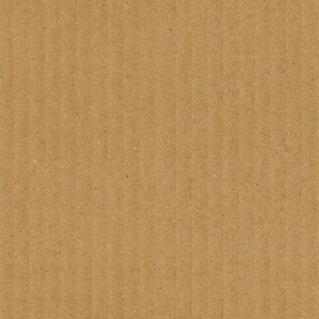 Cardboard texture seamless pattern. Brown corrugated card with vertical strips Stockfoto