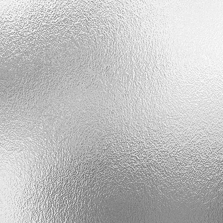 Zilveren folietextuur, grijze metaal decoratieve achtergrond Stockfoto