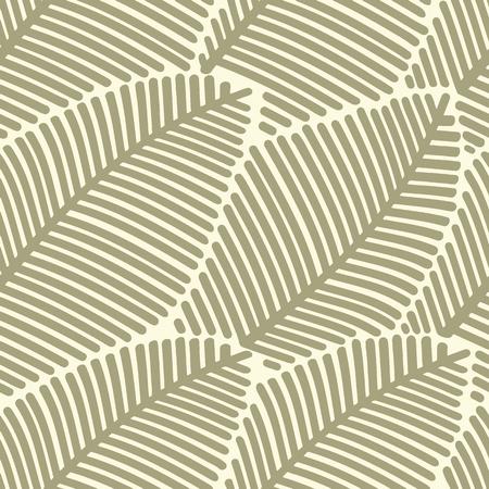 Seamless pattern of stylized leaves.