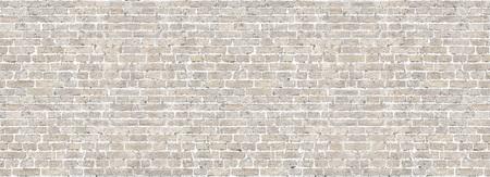 Wit wassen oude bakstenen muur panorama.