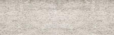 White wash old brick wall panorama. Standard-Bild