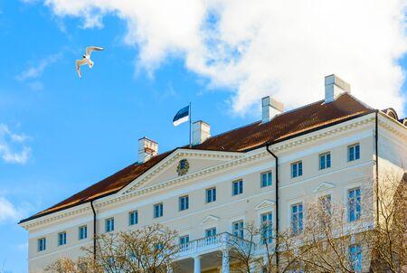 Estonian government building on Toompea hill in old Tallinn city, Estonia. Stok Fotoğraf