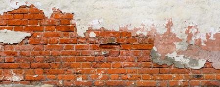 Old Brick wall panoramic view.