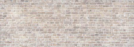 Whitewashed old brick wall panorama. Banque d'images