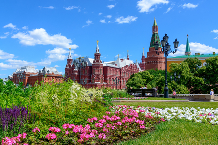 Moscow, Russia. June, 20, 2018: Red Square and the State Historical Museum of Russia