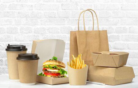Fast food big lunch set.
