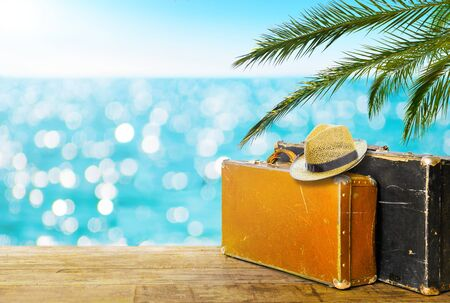Travel vacation concept. Summer background. Copy space
