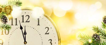 New Years Eve clock background. 版權商用圖片 - 133782588