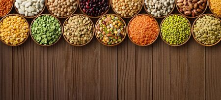 Various colorful legumes background