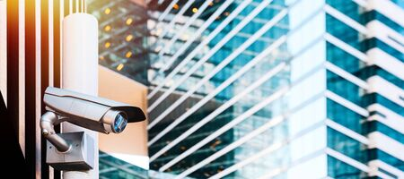 CCTV security camera on street Imagens