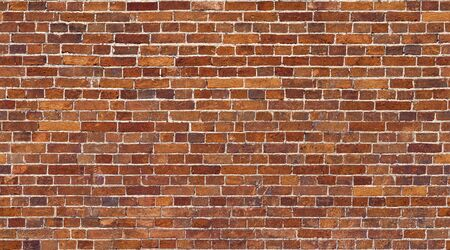 Brick wall seamless texture. Red stone pattern background Imagens