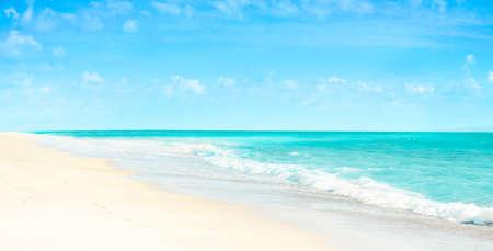 Empty beach and tropical sea