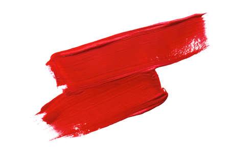 Paintbrush Strokes of red paint on white 版權商用圖片