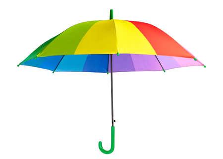 Multicolored umbrella isolated on the white background