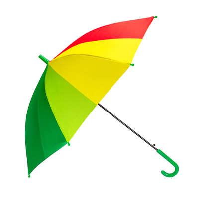 Colourful umbrella isolated on a white background 版權商用圖片