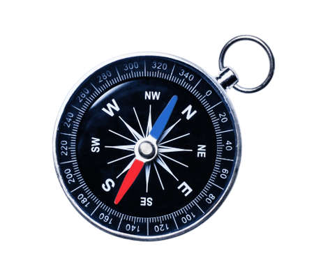 Navigational Compass isolated on a white. Directly above