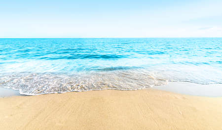 Empty beach tropical sea and sky 版權商用圖片