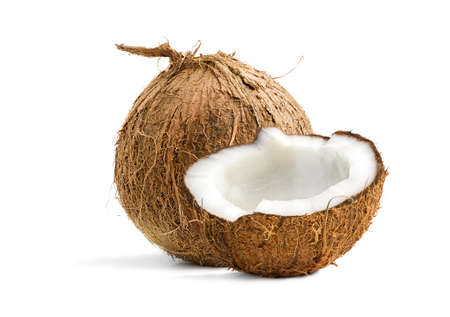 Tropical Coconuts isolated on a white background