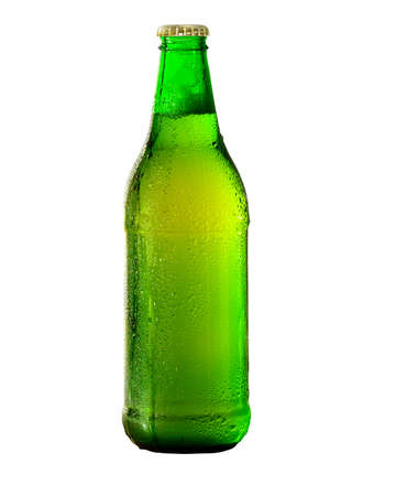 Green Beer bottle isolated on white. 写真素材