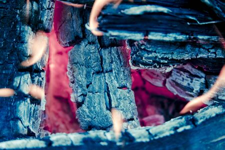 fire pit: A close up on a fire pit.