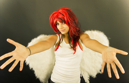 wanting: An angel wanting to help you out.
