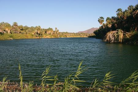 Laguna (lagoon) de San Ignacio with vulcano Las Tres Virgenes in the background, San Ignacio, Baja California Sur, Mexico