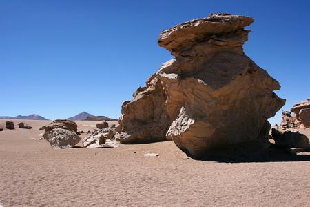 Rock formation (Arbol de Piedra) in the Eduardo Avaroa Andean Fauna National Reserve, Sur Lipez Province, Bolivia