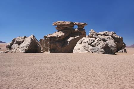 avaroa: Rock formation (Arbol de Piedra) in the Eduardo Avaroa Andean Fauna National Reserve, Sur Lipez Province, Bolivia