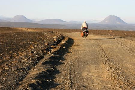 Sprengisandur、Nyidalur、アイスランドへ Hrauneyjar をサイクリング