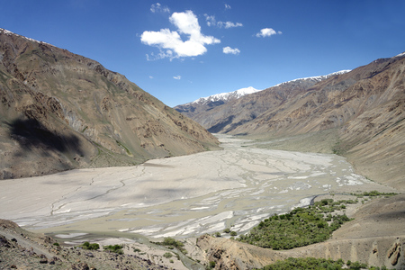 Beautiful remote Tajik National Park, Bartang Valley, Pamir Mountain Range, Tajikistan