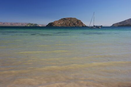 Remote camping on Playa El Burro, Mulege, Baja California Sur, Mexico