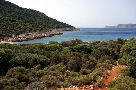 Wild coastline, Likya Yolu hiking trail, Turkey