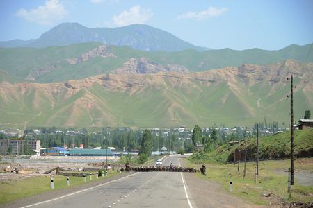 Gulcha village, M41 Pamir Highway, Kyrgyzstan