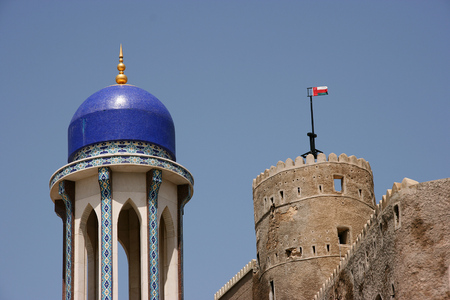 Masjid al Khor, Muscat, Oman Stock Photo