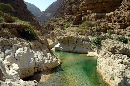 Wadi Shab, Oman Stok Fotoğraf