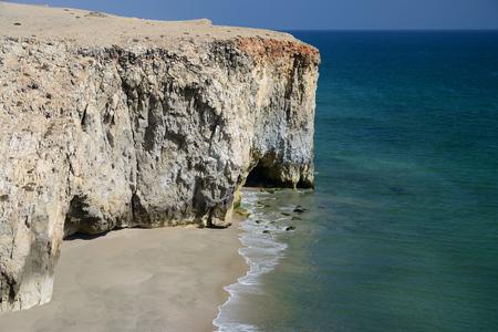 Cliffs south of Al Hadd, Oman