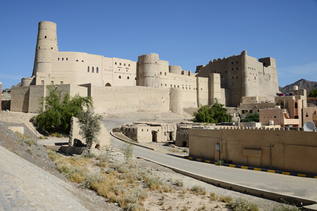 Hisn Tamah Fort, Bahla, Oman Фото со стока