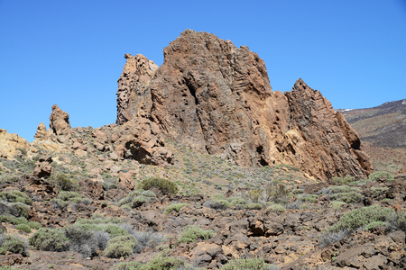 Roques de Garcia, Parque Nacional del Teide, Tenerife, Canary Islands, Spain