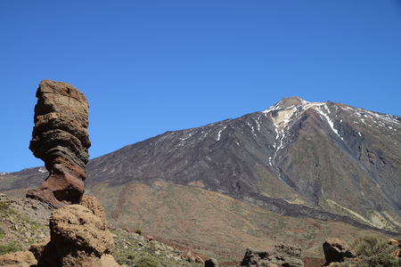 Roque Cinchado, Parque Nacional del Teide, Tenerife, Canary Islands, Spain Stock Photo