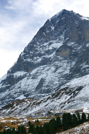 North face of Eiger mountain in the Jungfrau region, Switzerland