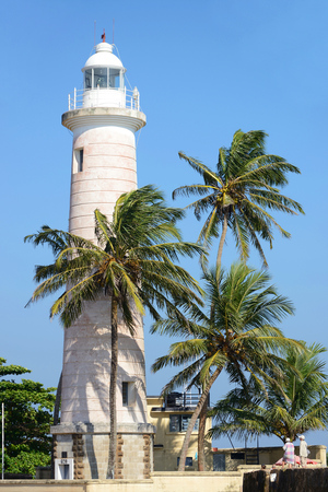 Pictorial view of light houe, Galle fort, Sri Lanka