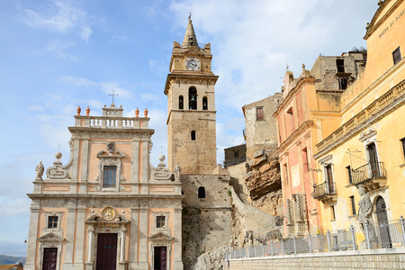 Chiesa Madre Church in the Medieval italian city of Caccamo, Sicily, Italy